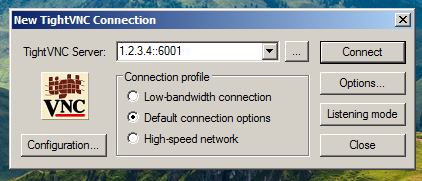 TightVNC Connection Prompt