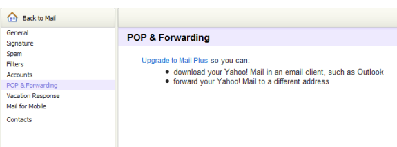 Yahoo Gives IMAP Support to Free Users? - AnotherWindowsBlog