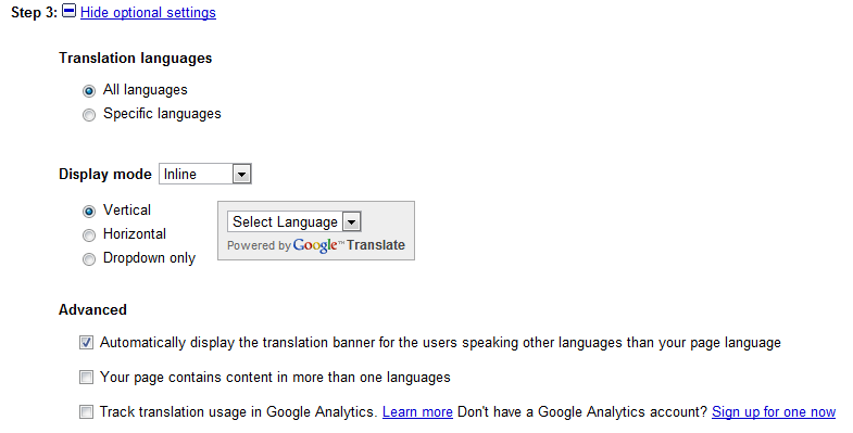 Adding Language Translation Services to your Blog