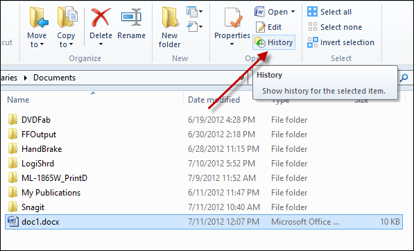 The New 'Previous Versions' in Windows 8 - AnotherWindowsBlog